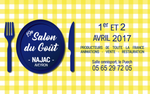 Salon du Goût à Najac les 1er et 2 avril 2017
