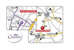 Plan d'accès au Cassissium - Brochures