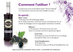 Fiche recette crème de cassis - Brochures